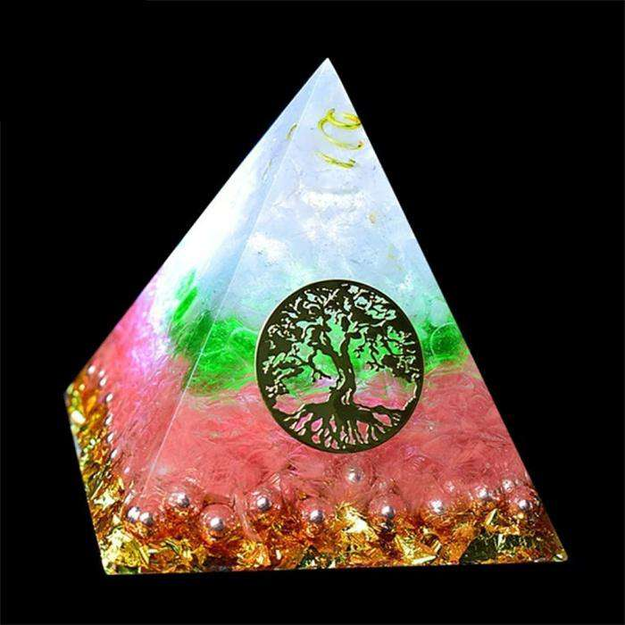 Orgone Pyramid for Lasting Love with Rose Quartz