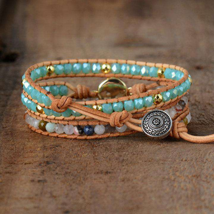 Wrap Bracelet for Cosmic Consciousness - Opal
