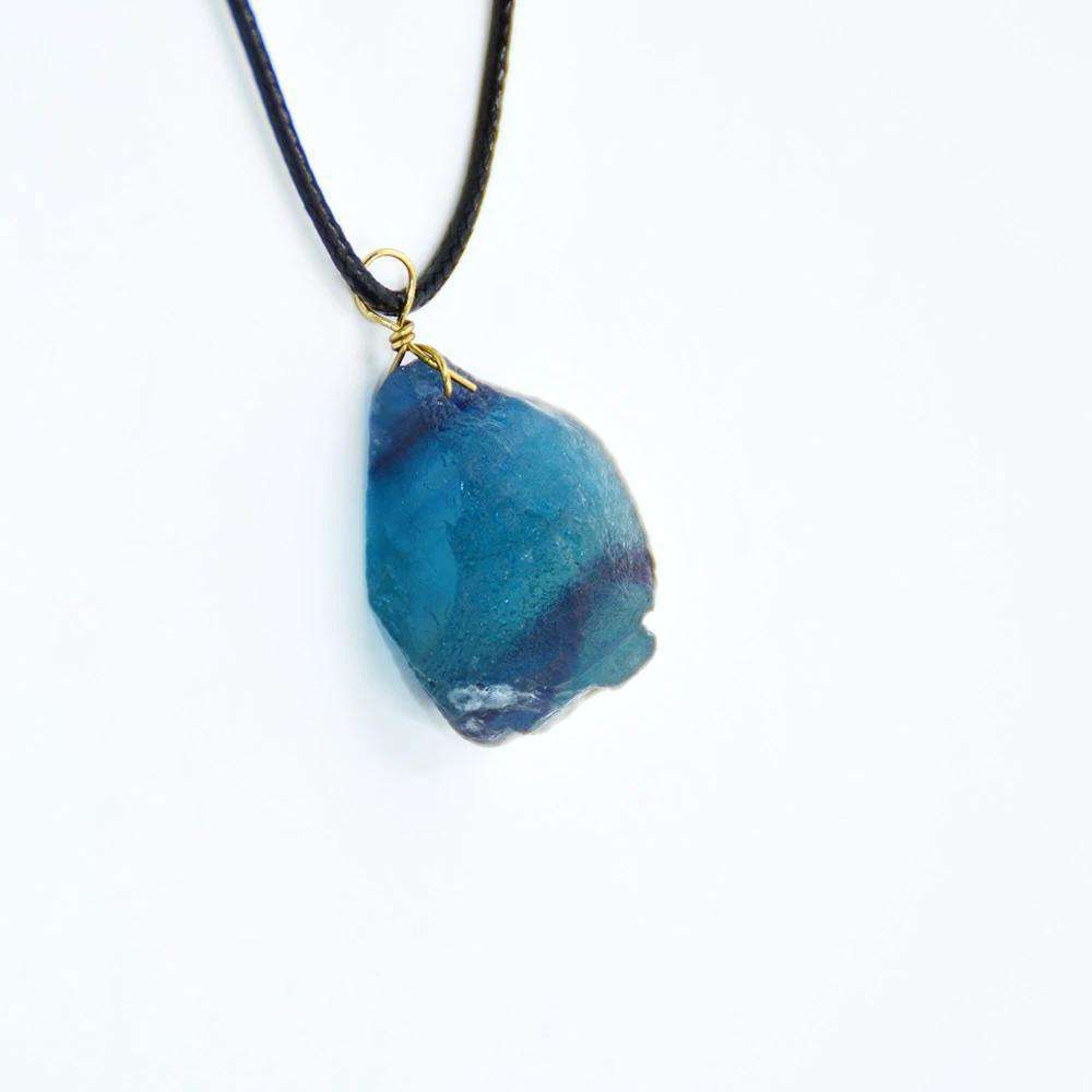 Necklace for Peace - Blue Fluorite