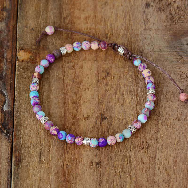 Bead Bracelet to Overcome Fears - Jasper Stone