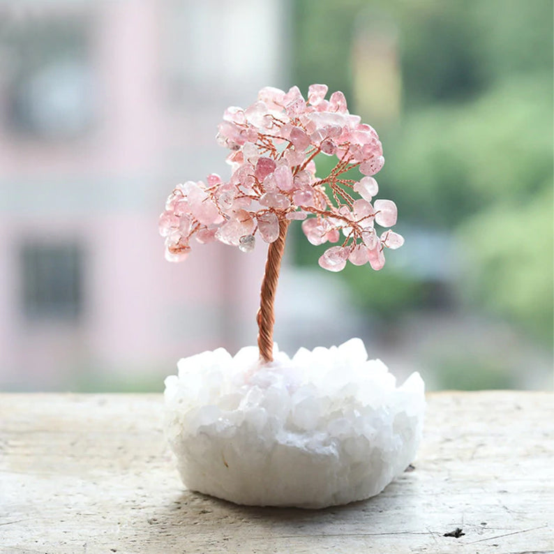 Crystal Tree for Love - Rose Quartz