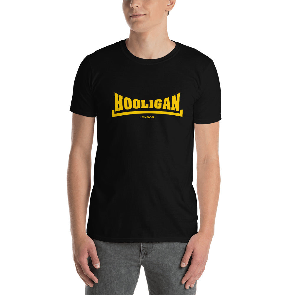 Hooligan Logo T Shirt Zwart