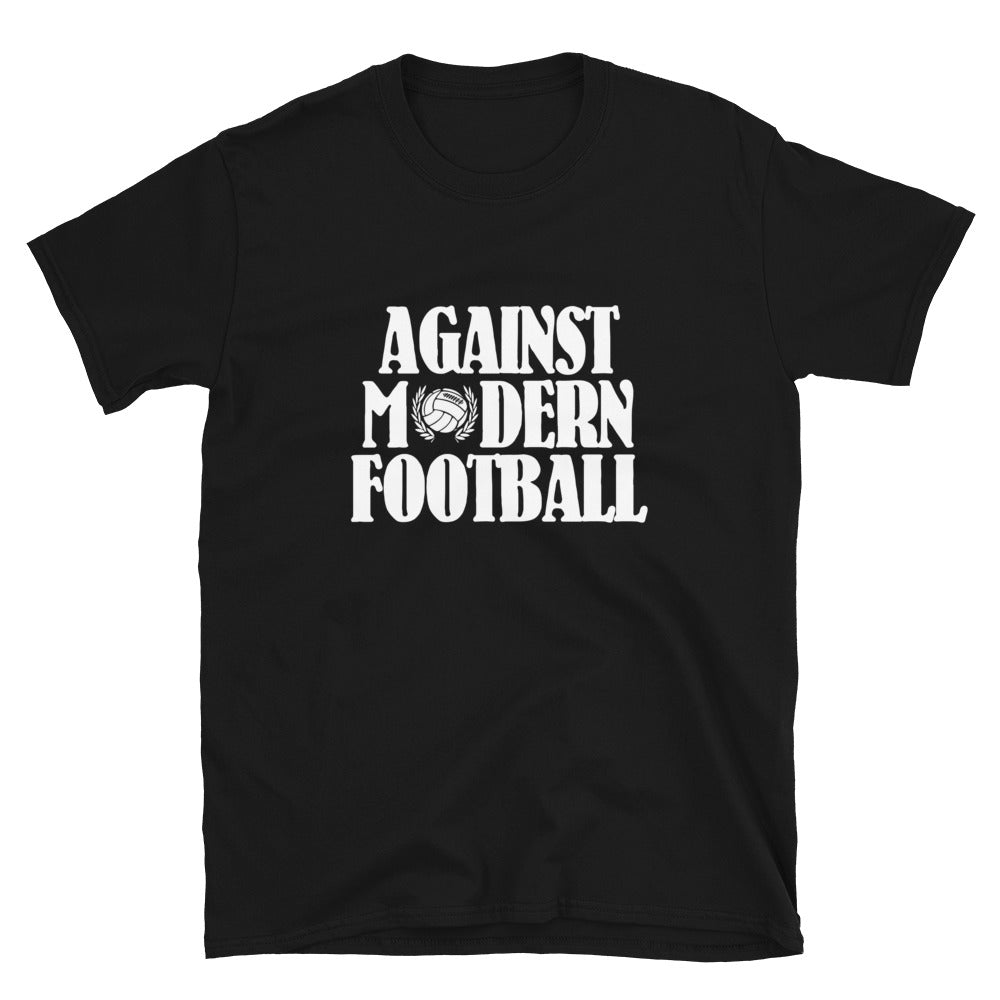 Against Modern Football T shirt Zwart