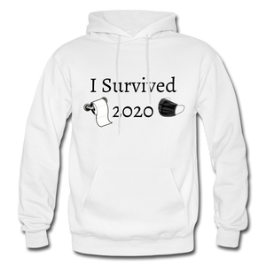 I Survived 2020 Hoodie - White - white