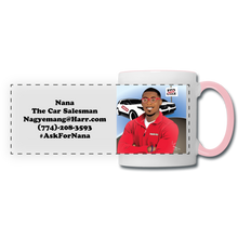 Load image into Gallery viewer, Nana The Car Salesman Mug - white/pink