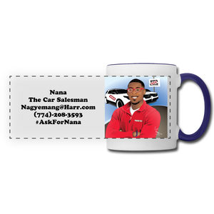 Nana The Car Salesman Mug - white/cobalt blue
