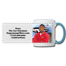 Load image into Gallery viewer, Nana The Car Salesman Mug - white/light blue