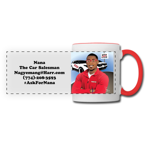 Nana The Car Salesman Mug - white/red