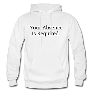 Your Absence Is Required Hoodie - White - white
