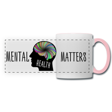 Load image into Gallery viewer, Mental Health Matters Mug - white/pink