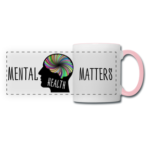 Mental Health Matters Mug - white/pink