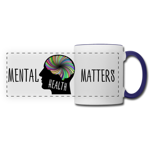 Mental Health Matters Mug - white/cobalt blue