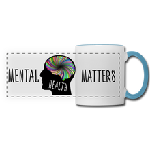 Load image into Gallery viewer, Mental Health Matters Mug - white/light blue