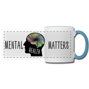 Mental Health Matters Mug - white/light blue