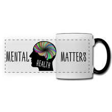 Load image into Gallery viewer, Mental Health Matters Mug - white/black