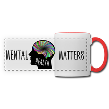 Load image into Gallery viewer, Mental Health Matters Mug - white/red