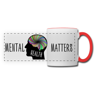 Mental Health Matters Mug - white/red