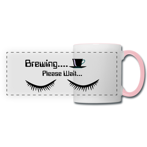Brewing please wait Mug - white/pink