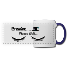 Load image into Gallery viewer, Brewing please wait Mug - white/cobalt blue