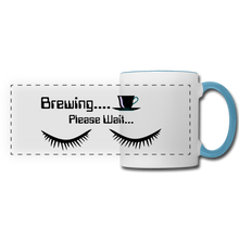 Load image into Gallery viewer, Brewing please wait Mug - white/light blue