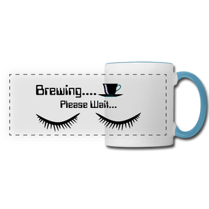 Brewing please wait Mug - white/light blue