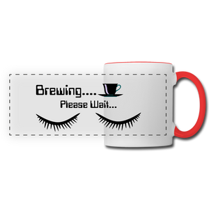 Brewing please wait Mug - white/red