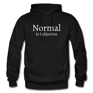 Normal is Subjective Hoodie - Black - black