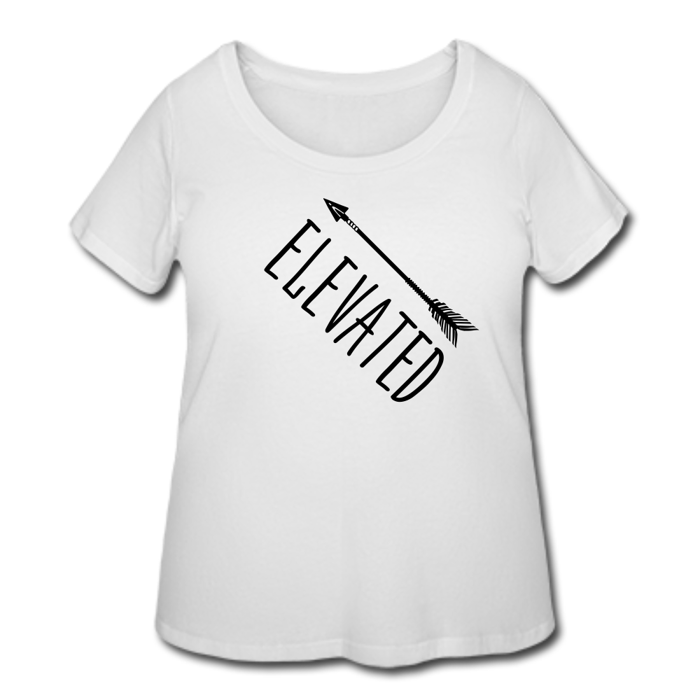 Elevated T-Shirt (Curvy) - White - white