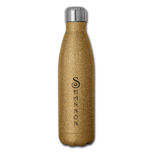 Insulated Stainless Steel Water Bottle Personalized - gold glitter