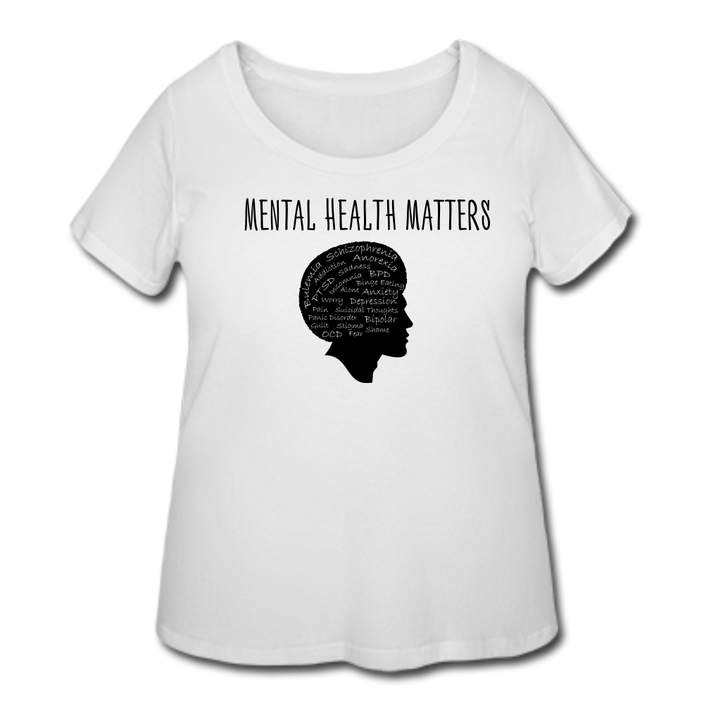 Mental Health Matters Diagnosis T-Shirt (Curvy) - White - white