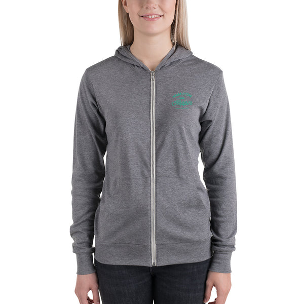Hampton Hopper Bella Lightweight Unisex Zip Hoodie