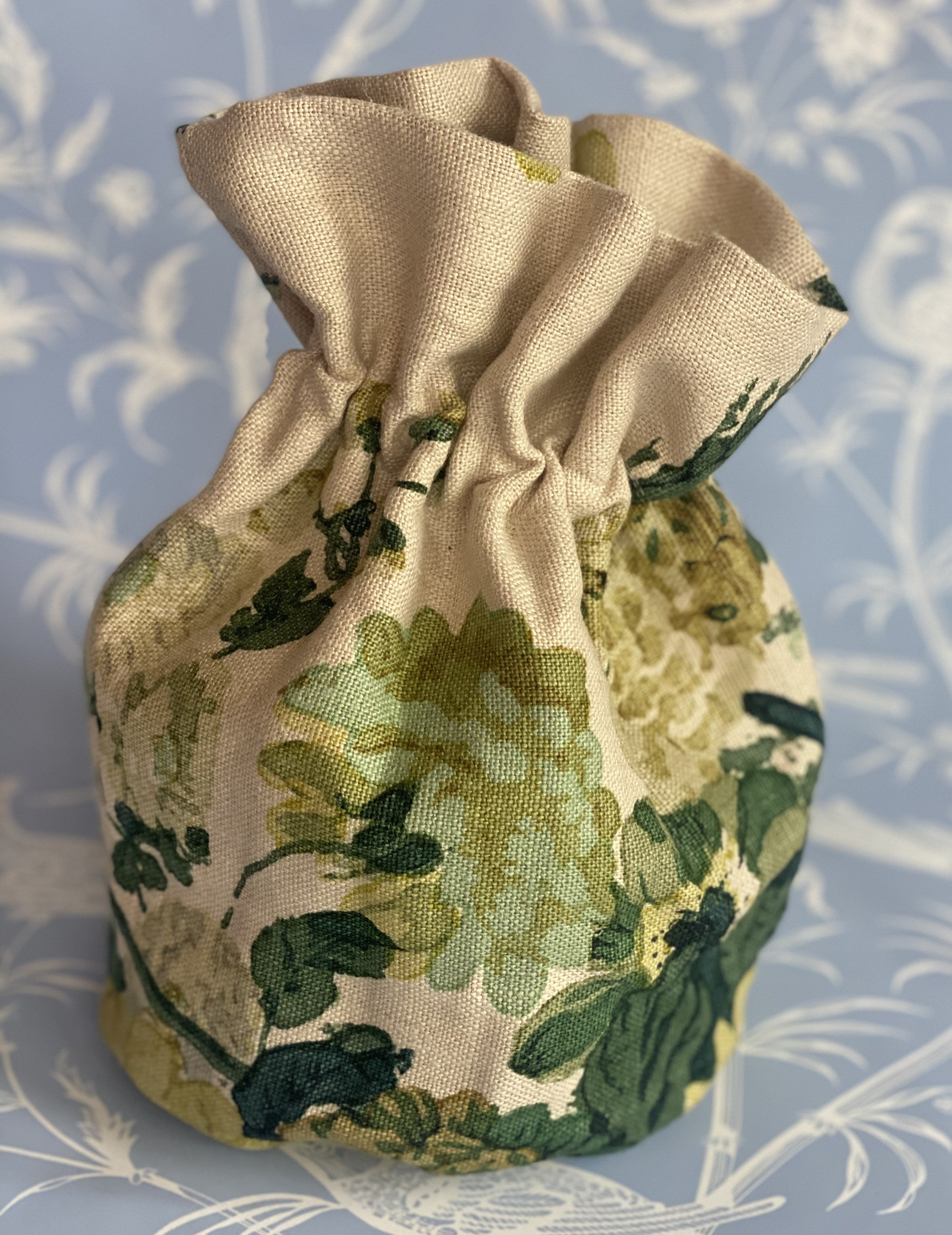 Vintage Greenery Chintz Pouch