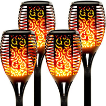 Load image into Gallery viewer, 96 Leds Solar powerd Flickering Flame  Lights