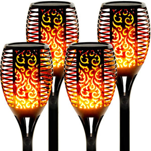 96 Leds Solar powerd Flickering Flame  Lights