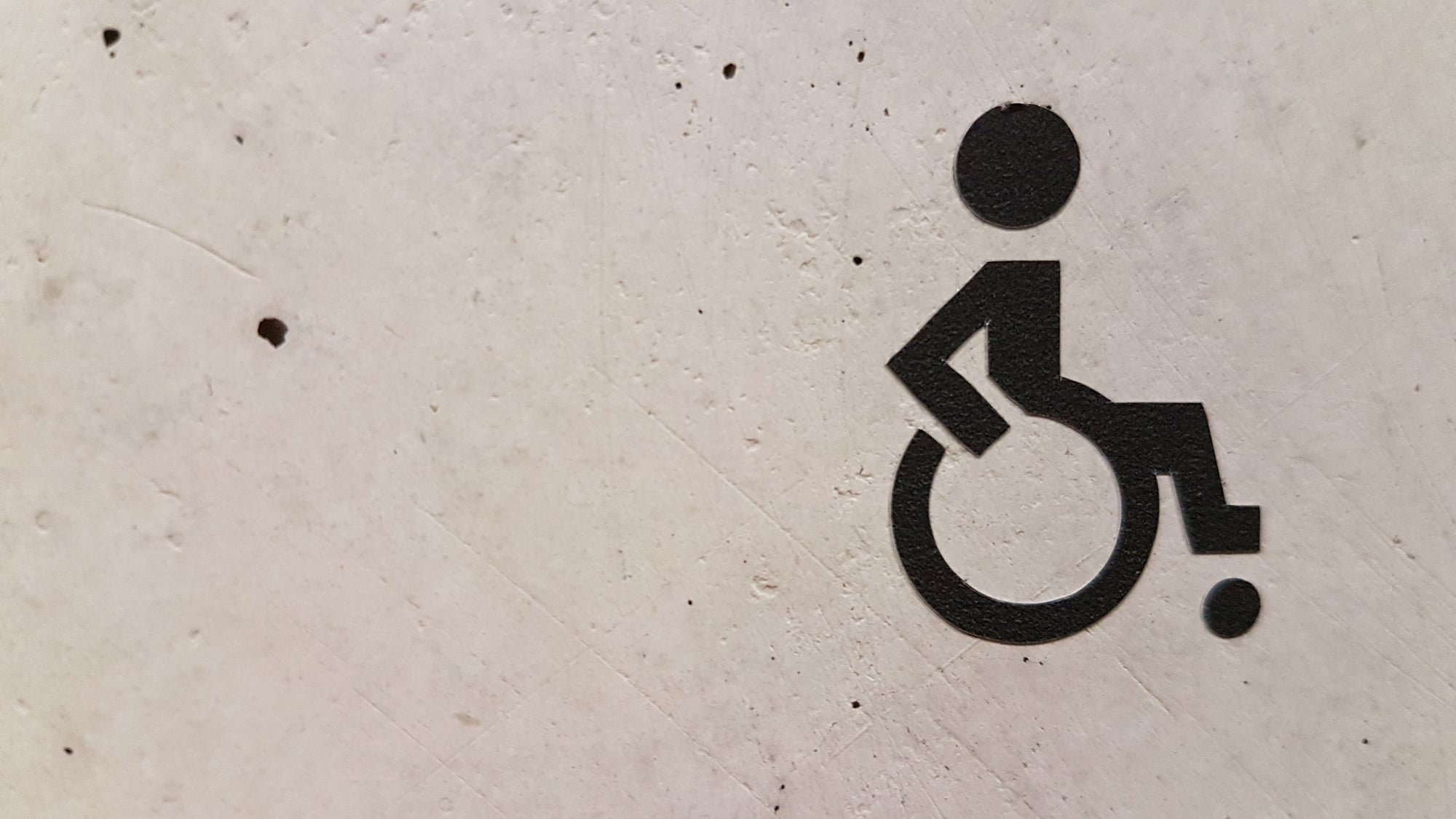a wheelchair symbol representing injuries resulting from malpractice