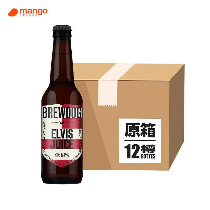 BREWDOG - Elvis Juice 手工啤酒 330ml (原箱12樽) -  Mango Store
