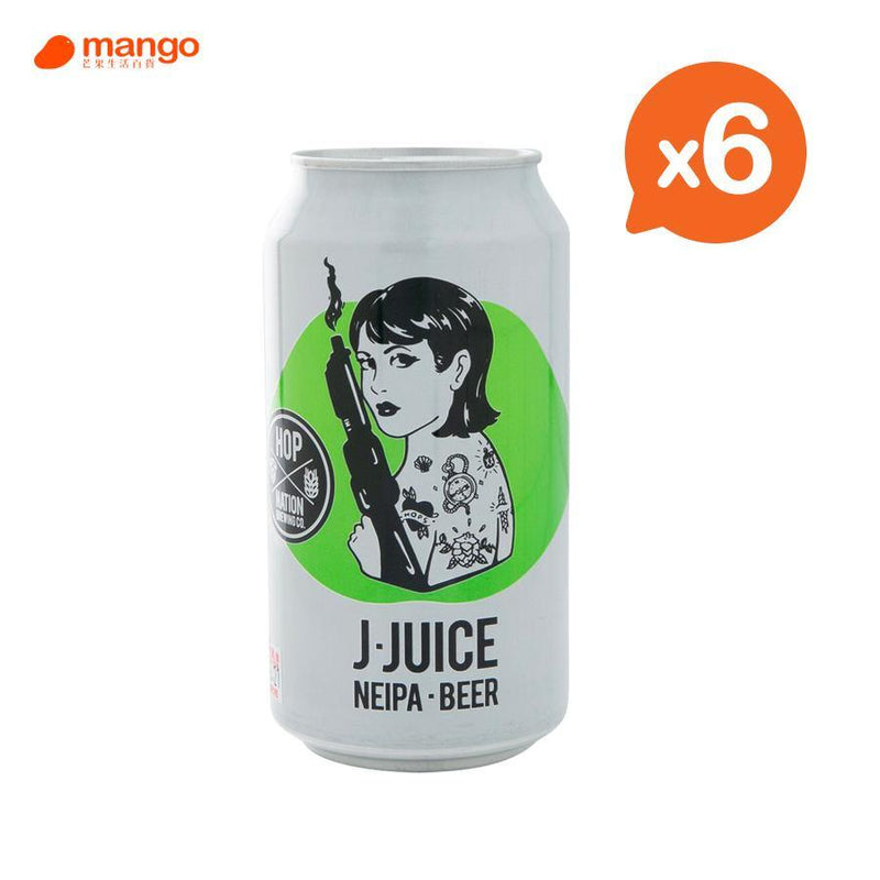 Hop Nation - J-Juice Neipa Beer 澳洲手工啤酒罐裝 375ml (6罐)