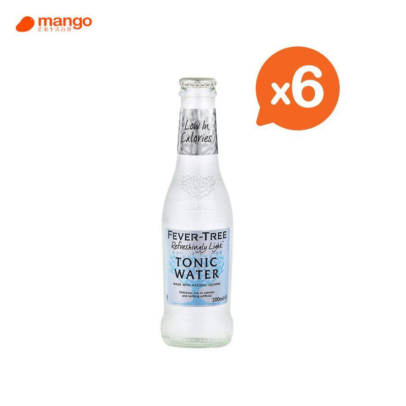 Fever Tree - Light Tonic Water 湯力水- 200ml (6樽)