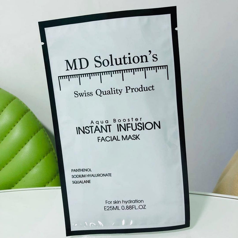 MD Solution's - Aqua Booster INSTANT INFUSION Faical Mask 極速救命水精華面膜 單片裝 -  Mango Store