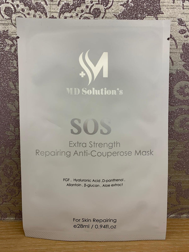 MD Solution's - Extra Strength Repairing Anit-Couperose Mask SOS特效修復面膜 28ml -  Mango Store