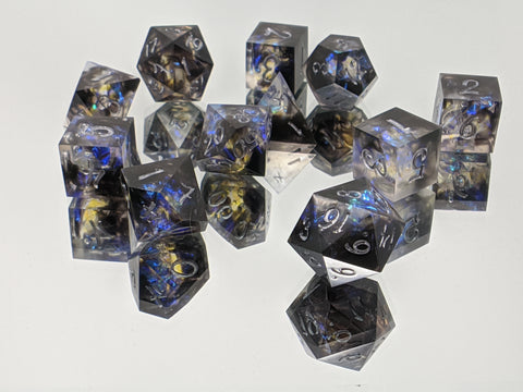 B+ Grade Flux Aether 11 Piece Tabletop Gaming Dice Set
