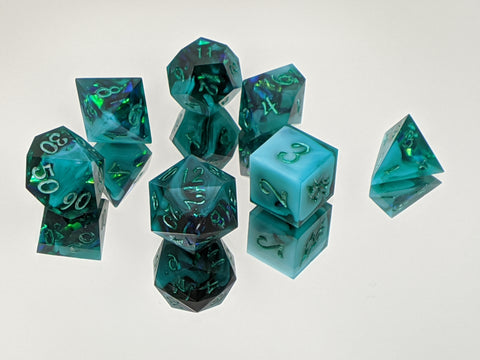 River Dragonsoul Opal 7 Piece Tabletop Dice Set