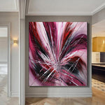 Buy original Oil Paintings - Canvas, Contemporary Abstract Painting Large Modern Art - Pink Passion - LargeModernArt