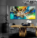 Abstract Modern Art Oil Painting on Canvas Modern Wall Art Amazing Abstract - Abstract Art 83 - LargeModernArt