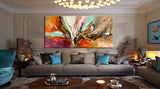 Abstract Modern Art Oil Painting on Canvas Amazing Abstract Gold Flow Painting - Abstract Art 84 - LargeModernArt