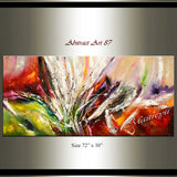 Abstract Modern Art Oil Painting on Canvas Modern Wall Art Amazing Abstract Painting - Abstract Art 87 - LargeModernArt