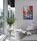 Wall Art Paintings For Sale Original Artwork On Canvas, Extremely Modern Style Interior Decor - Unreal Beauty1 - LargeModernArt