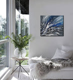 Black White Painting On Canvas Original Artwork For Sale, Modern Interior Decor - Unreal Beauty 4 - LargeModernArt