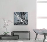 Black White Painting On Canvas Original Artwork For Sale, Modern Interior Decor - Unreal Beauty 2 - LargeModernArt
