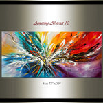 Large Modern Art Oil Painting on Canvas - Modern Wall Art Amazing Abstract 10 - LargeModernArt